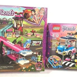 Lego Friends Lot Of 2 Building Sets 41343 & 41348